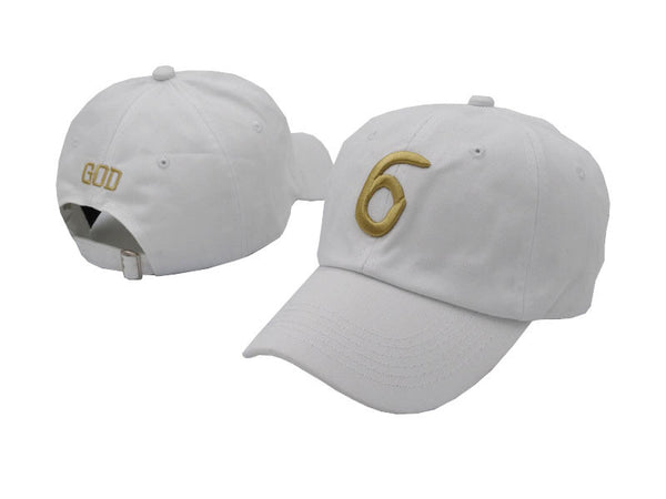 The '6' Dad Hat White