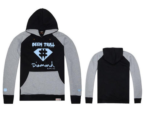 Diamond Supply Co Ca$h Hoodies Black Blue