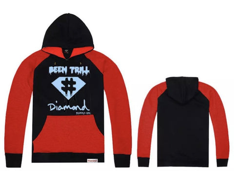 Diamond Supply Co Ca$h Hoodies Black Red Blue