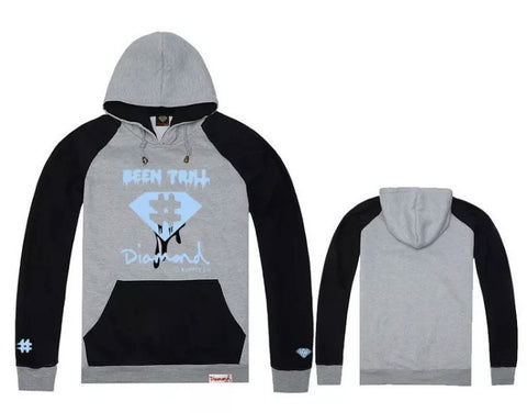 Diamond Supply Co Ca$h Hoodies Grey Blue