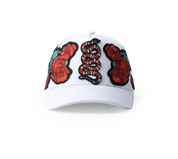 Coral Snake Dad Hats White
