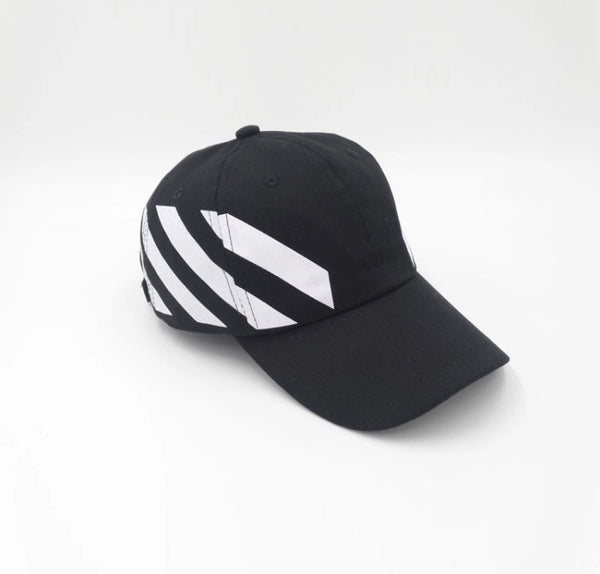 Off Caution Dad Hat Black