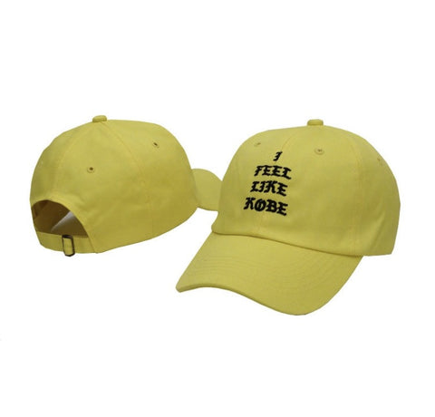 I Feel Like Kobe Dad Hat Yellow