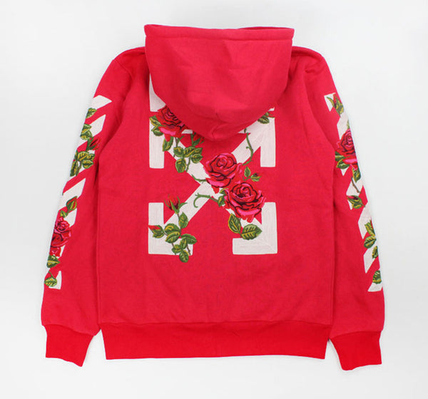 Off White Roses Red Hoodie