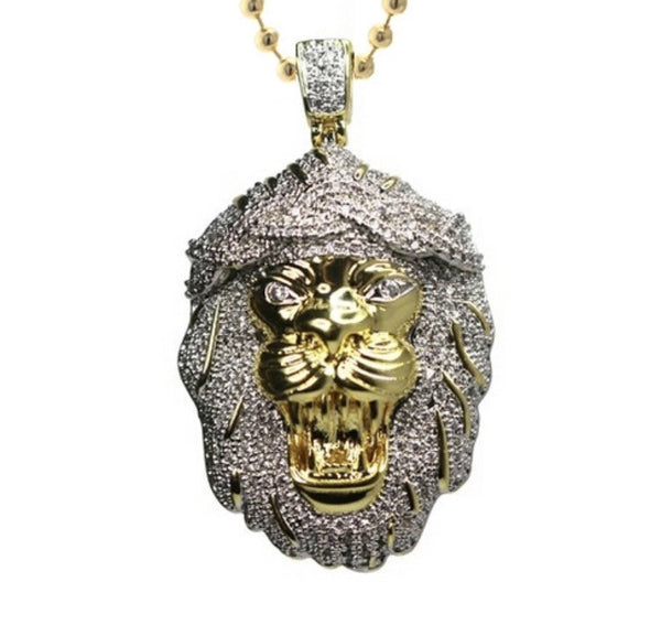 Lion God Gold Necklace