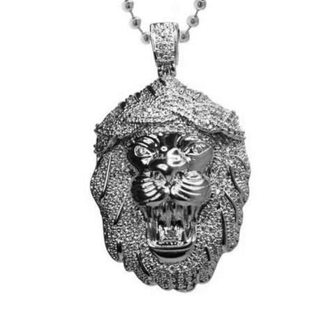 Lion God Silver Necklace