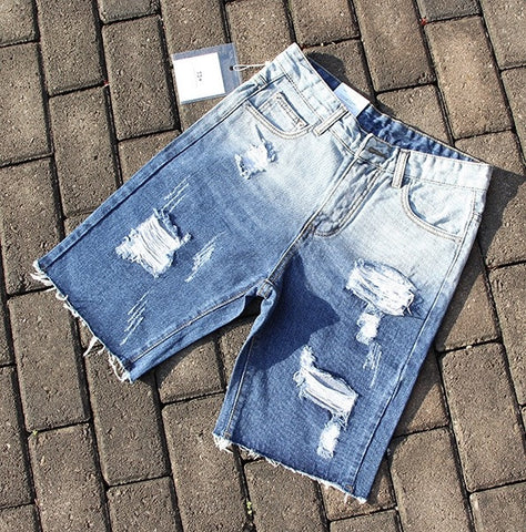 Distressed Jean Shorts ANDIMOTO