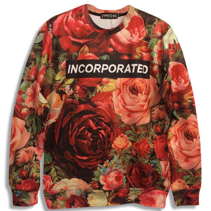 Incorporated Floral Sweatshirt