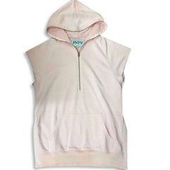 Kanye West Style Cotton Sleeveless Hoodie White
