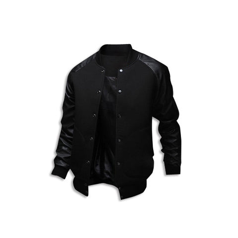 Leather Long Sleeve Jacket Black