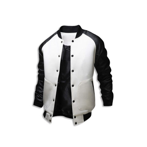 Leather Long Sleeve Jacket White