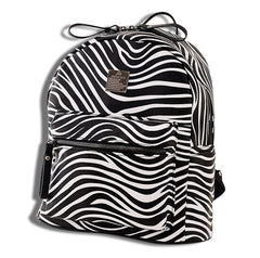 Leather Travel Zebra Backpack Right Side