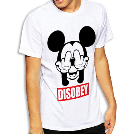 Mickey Disobey T-Shirt White Front