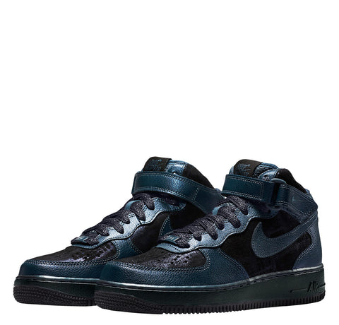 Nike Womens Air Force 1 Mid Premium Metallic Armory Navy