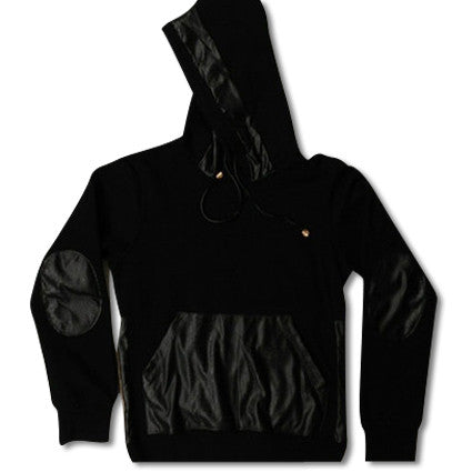 Premium Leather Hoodie Back