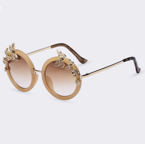 Baddie Butterfly Sunglasses Nude