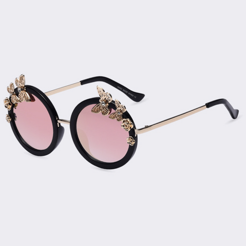Baddie Butterfly Sunglasses Rose Lens