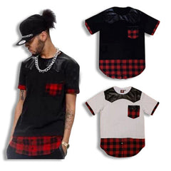 Shirt with Flannel Extension and Leather Bib