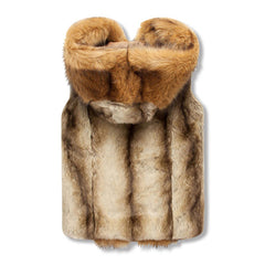 Sleeveless Fur Vest Hoodie Back