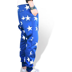 Mens Cotton Star Joggers Side