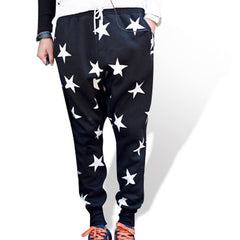 Mens Cotton Star Joggers Black