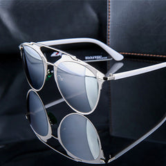 Vintage Cat Eye Sunglasses Silver