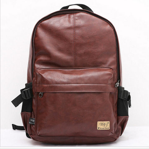 Wanderlust Premium Coffee Leather Streetwear Backpack