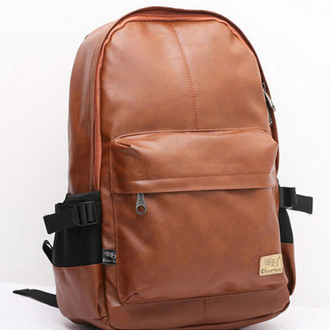 Wanderlust Premium Leather Streetwear Backpack Front
