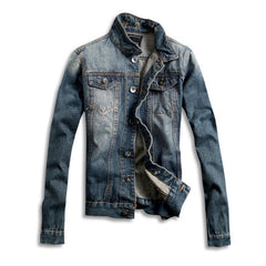 Washed Denim Jacket in Light Blue