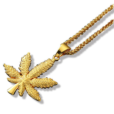 Weed Leaf Gold Chain