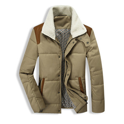 Winter Fur Collar Jacket Khaki