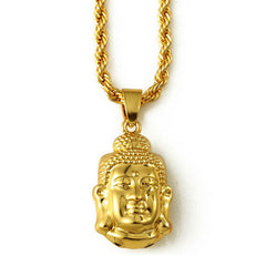 Wise Buddha 18K Gold Plated Necklace
