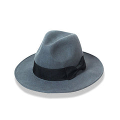 Womens Wide Brim Fedora Grey