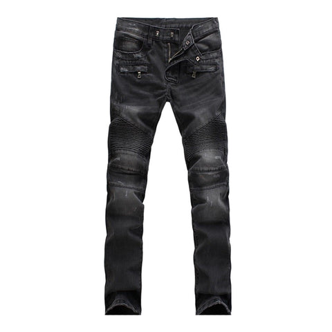 Denim Stretch Slim Fit Biker Jeans