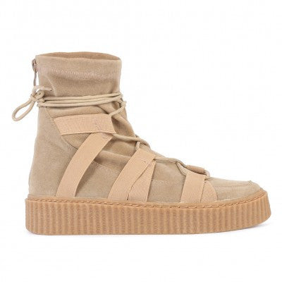 Luxe High Top Creepers Khaki