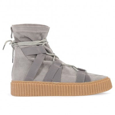 Luxe High Top Creepers Grey