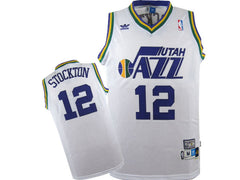 Utah Jazz John Stockton #12 Home Throwback Jersey