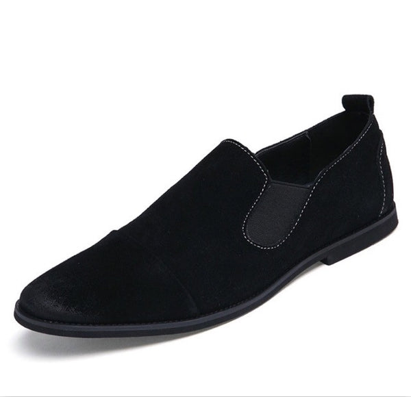 Suede Chelsea Loafers Black