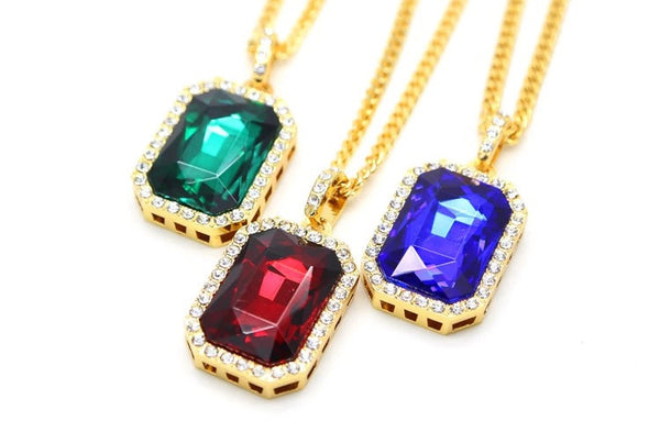 Gold Chain with Ruby Pendant