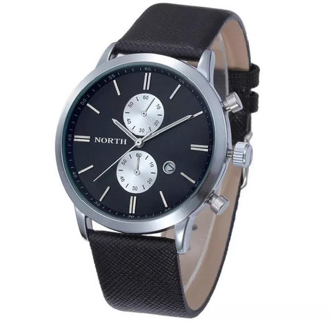 Men's Black Waterproof Military Watch