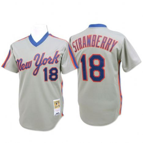 New York Mets Darryl Strawberry #18 Alternate Home Throwback Jersey