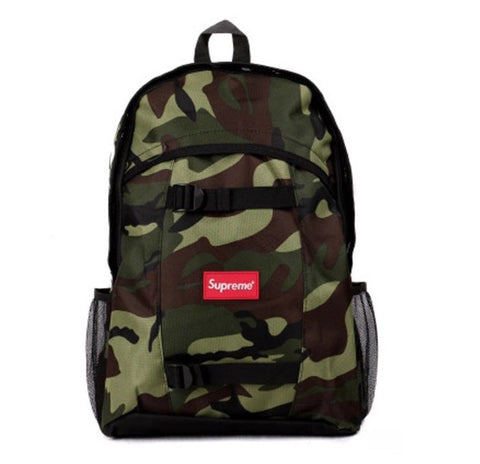 Supreme Nylon Sport Backpacks Deep Camo Side View
