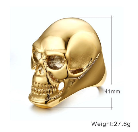 Skull Duggery 18K Gold Plated Ring Specs