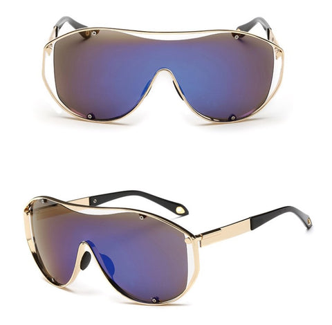 Exhaust Invisible Set Sunglasses Blue