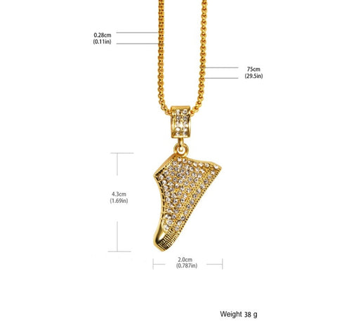 Chuck Shoe 18K Gold Plated Necklace