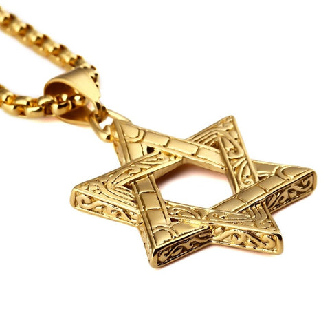 Star of David Silver Gold Necklace