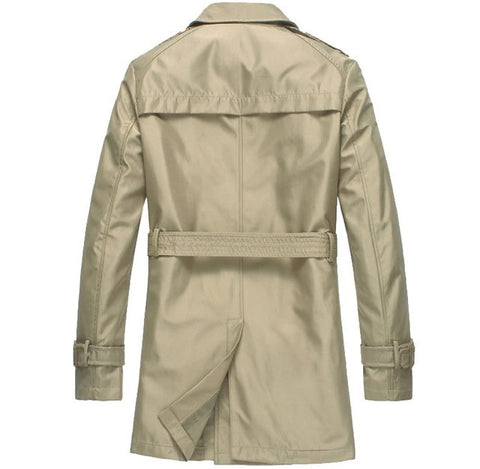 Classic Men's Trenchcoat Khaki Back