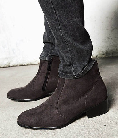 Suede Chelsea Laceless Boots Brown