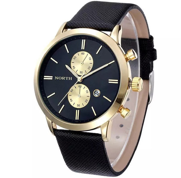 Men's Gold Waterproof Military Watch
