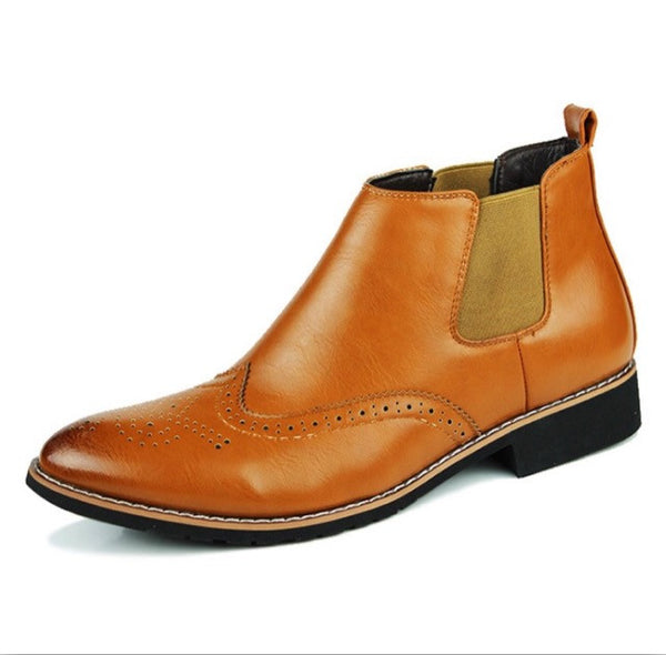 Leather Chelsea Boots Tan